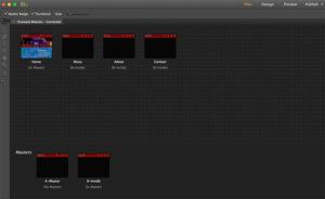 Adobe Muse layout view