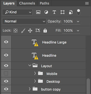 Photoshop layers workaround